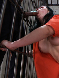 A hottie French tourist loses her passport and winds up in American prison - and the guards don't..