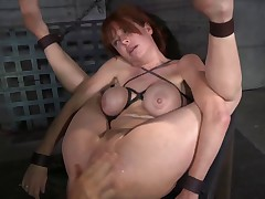 MILF bound and fucked