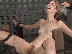 Pale Babe Throatboarded