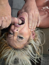 Huge Breasted Blonde Throat Fucked