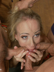 Simone Sonay gets her gang bang pleasures fulfilled by servicing five eager firefighters. These..