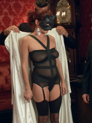 Ashlee Graham wants to be ravaged in style. Adorned with a masquerade mask and escorted to her..