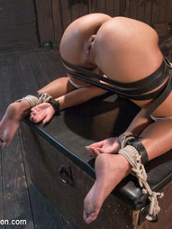Teanna Trump gets put through her paces by Mr. Pete in this sexually charged bondage and rough sex..