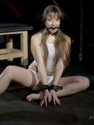 Submission is harsh for Taissia: spanked, whipped, nipples pinched, a cold pleasure seeing tears..