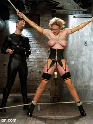 Sick of his bitchy new Domme's insults and attitude, this gimp gets loose and teaches her a lesson..