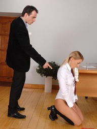 Bad schoolgirl gets punished