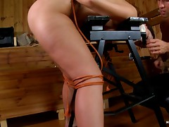 Paige gets bound and drilled