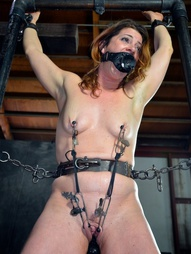 Cici Rhodes was uncomfortable in her cage but it is a far cry better than being out and in the..