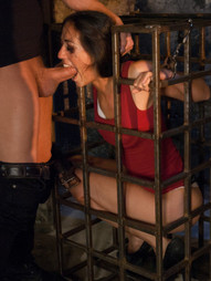 See how the hot latina MILF Lyla Storm explores her BDSM fantasy with Master Xander Corvus in this..