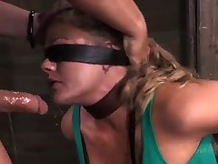 Holly Heart Gets Throat Trained