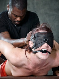 Sexy MILF bound is custom metal bondage