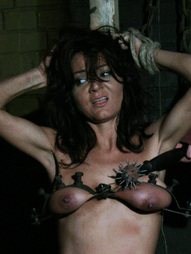 Special large tit screws are used to make this witch confess her sins while she is bound to the..