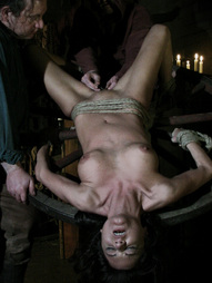 Janessa is bound at the wheel of pain to be punished by severe whipping. The witchhunters are..
