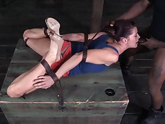 Fit Redhead Gets Overwhelmed