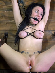 Shackled,chained and facefucked