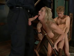 Sadistic Security Guards Fuck Sexy MILF