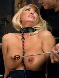 Watch superhot blonde slaveslut Summer Brielle in this very intimate BDSM scene with Mr. Pete.