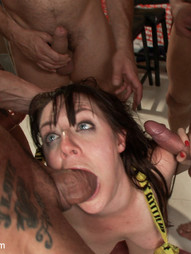 Sorority Girl gangbanged for the first time