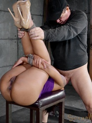 Slave Gets Stuffed From Both Ends