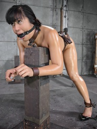 Bound, Oiled, Brutally Face Fucked