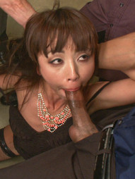 Japanese fuck-toy gets her tiny holes stuffed